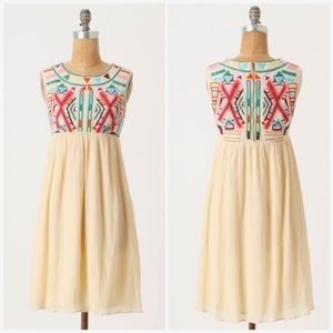 Anthropologie Contrasting Halves Dress